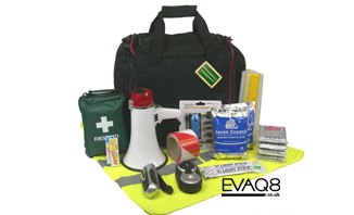 Business Emergency Grab Bag | Business Prepper supplies: Emergency and Disaster Preparedness - tools and equipment for emergency preparedness, emergency management and disaster recovery | standard and bespoke Preparedness Kits from EVAQ8.co.uk the UK's Emergency and Disaster Preparedness specialist