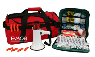Site Evacuation Kit for 100+ persons - safe evacuation | Business prepper supplies: Emergency and Disaster Preparedness - tools and equipment for emergency preparedness, emergency management and disaster recovery | standard and bespoke Preparedness Kits from EVAQ8.co.uk the UK's Emergency and Disaster Preparedness specialist