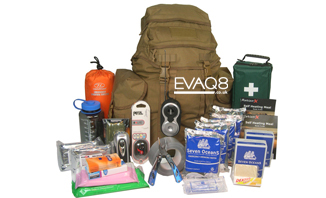 Deluxe 2 Person Go Bag  | Prepper supplies: Emergency and Disaster Preparedness - tools and equipment for emergency preparedness, emergency management and disaster recovery | standard and bespoke Preparedness Kits from EVAQ8.co.uk the UK's Emergency and Disaster Preparedness specialist